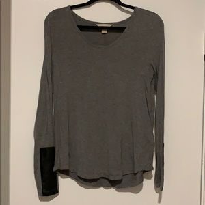 Banana Republic top with leather accent